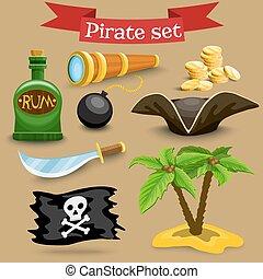 simbols, ensemble, pirate