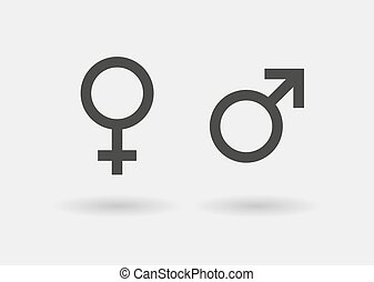 simbols, icono, sexual, conjunto