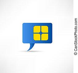 simcard concept design element speech bubble