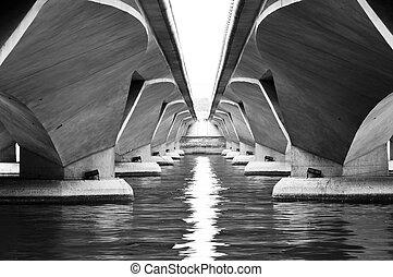 simetría, puente