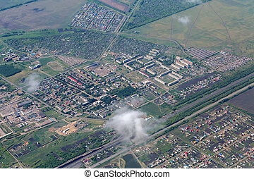 Simferopol view from the height of aircraft