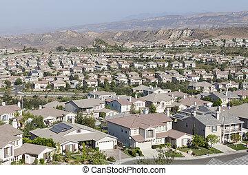 simi, banlieue, vallée, californie, nouveau