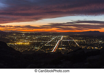 Simi Valley Night - After dusk night view of Simi Valley...
