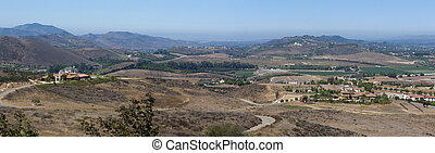City and Mountains of Simi Valley as seen from Ronal Regan Presidential Library, CA