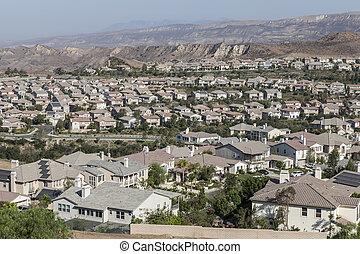 Simi Valley Ventura County California - Neighborhood of...