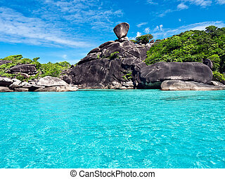 Similan Islands in the Andaman Sea. Thailand.