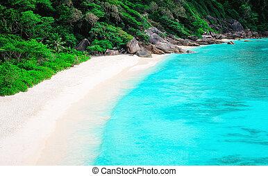 similan, vista, island., tailandia, cima