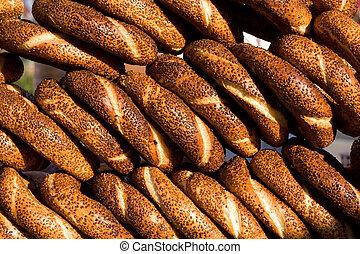 simit, bread., turkse