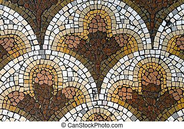 simmetrico, mosaico, modello, piastrella ceramica