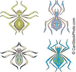 simmetrico, ragni