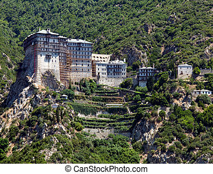 Simonopetra Monastery, Athos Peninsula, Mount Athos, Chalkidiki, Greece