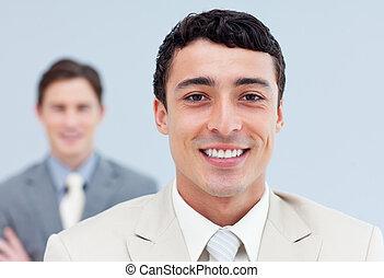 simpático, empresarios, posición, consecutivo