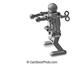 simpel, speelgoed robot