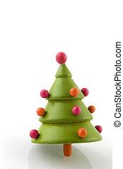 simple, árbol, navidad