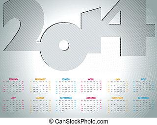 Simple 2014 calendar design