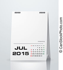 Simple 2015 year vector calendar with free space for your...