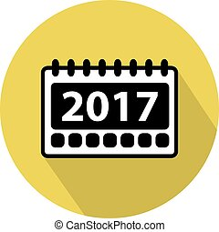 Simple 2017 Calendar icon