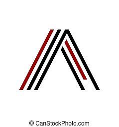 AA, AL, AI, AAL initials line art geometric company logo -...