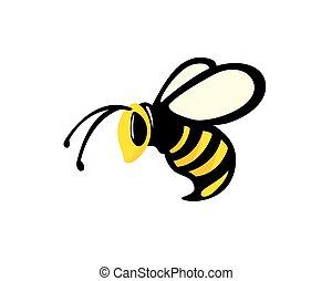 simple, abeille, voler