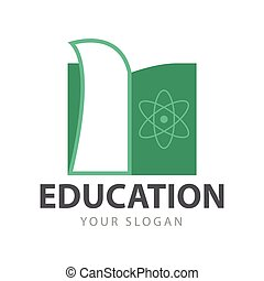Simple Abstract Education Book Logo Vector Graphic