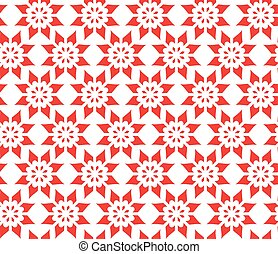 Simple Abstract Seamless Pattern of Flower, Vector Illustration