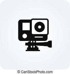 Simple action camera icon