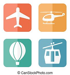 simple airline service icons