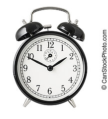 Simple alarm clock isolated object with clipping path included