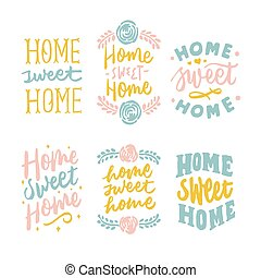 simple and beautiful home sweet home hand lettering