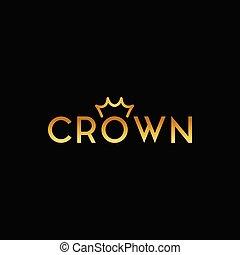Simple and elegant crown logo design template