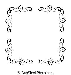 simple and elegant square frame design template