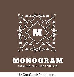 Simple and graceful monogram design template