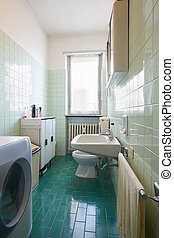 Simple and old bathroom interior