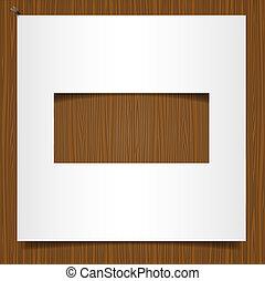 simple, armature bois, papier, fond