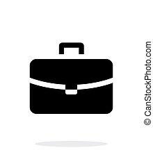 simple, arrière-plan., blanc, sac main, icône