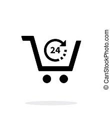 simple, arrière-plan., commodité, blanc, magasin, icône