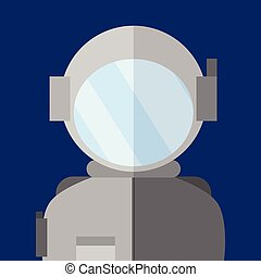 Simple Astronaut People Vector Illustration