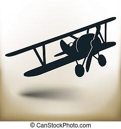 Avion symbolique tout avion isol stylis - Dessin avion stylise ...