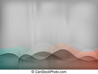 simple background - color wave on the grey background