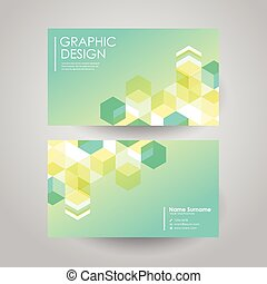 simple background for business card with hexagons element