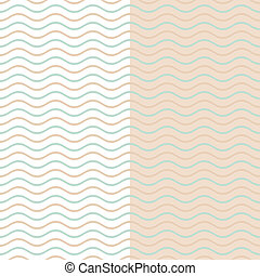 Simple background - Seamless vintage vector simple wavy line...