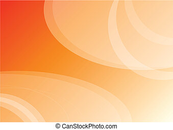 Simple background - Simple orange vector background with...