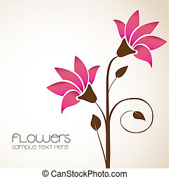 delicate flowers - simple background with delicate flowers,...