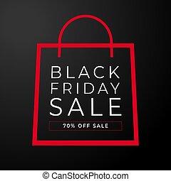 Simple bag black friday vector.
