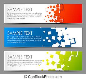 simple, bannières horizontales, coloré