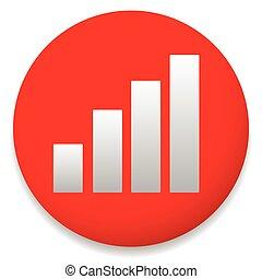 Simple Barchart, bargraph icon. Editable vector.
