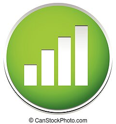 Simple Barchart, bargraph icon. Editable vector.
