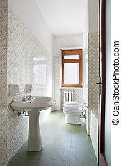 Simple bathroom in apartment