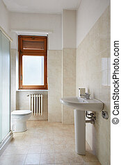 Simple bathroom in normal apartment