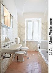 Simple bathroom in old house